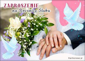 Zaproszenie na Rocznicę Ślubu