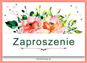 Zaproszenie pełne kwiatów
