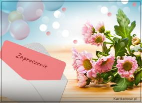 Zaproszenie usłane kwiatami