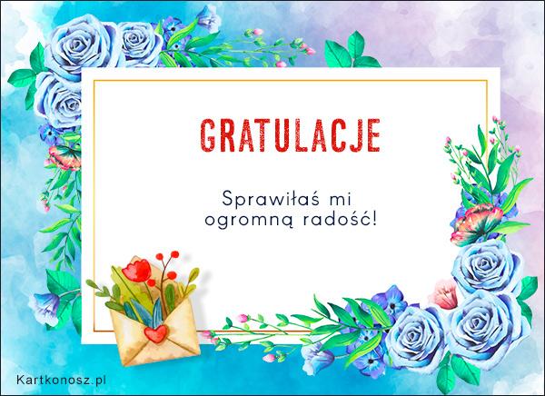 Gratulacje pełne kwiatów!