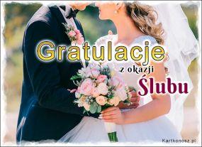 Gratulacje z okazji Ślubu!