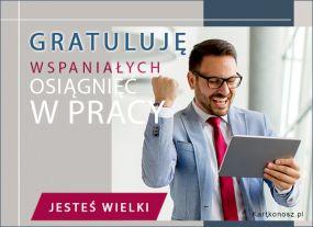 Gratuluję osiągnięć w pracy!