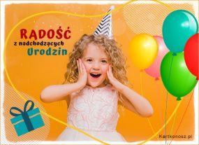 Radość z nadchodzących Urodzin!