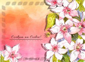 eKartki Kwiaty Czekam na Ciebie,