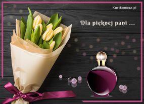 eKartki Kwiaty Dla pięknej pani,