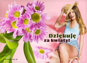 eKartki Kwiaty Dziękuję za kwiaty,