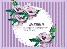 e Kartki Kwiaty Magnolie,