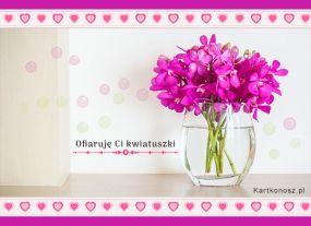 Ofiaruję Ci kwiatuszki
