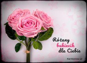 Różany bukiecik dla Ciebie