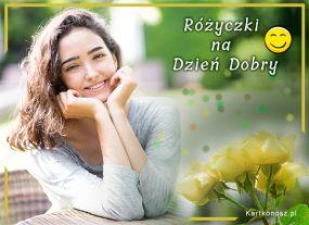 eKartki Kwiaty Różyczki na Dzień Dobry,