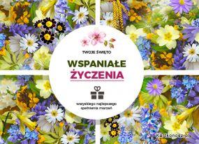 eKartki Kwiaty Wspaniałe życzenia!,