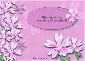 e Kartki Kwiaty Życzę szczęścia!,