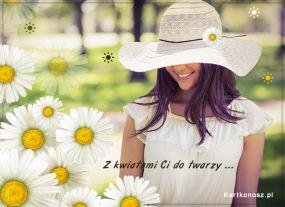 eKartki Kwiaty Z kwiatami Ci do twarzy,