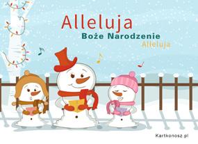 eKartki Boże Narodzenie Alleluja,