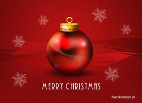 eKartki Boże Narodzenie Bańka świąteczna,