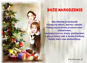 eKartki Boże Narodzenie Gdy Mikołaj przychodzi,