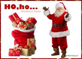 eKartki Boże Narodzenie Ho, ho Mikołaj,