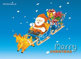 eKartki Boże Narodzenie Mikołaj w drodze,