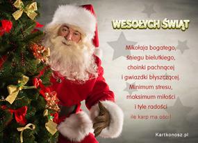 eKartki Boże Narodzenie Mikołaja bogatego życzę,