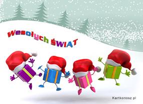 eKartki Boże Narodzenie Mikołajkowe prezenty,