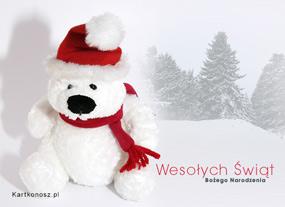 eKartki Boże Narodzenie Miś - Mikołaj,