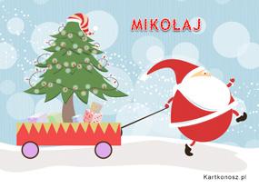 eKartki Boże Narodzenie Nadciąga Mikołaj,