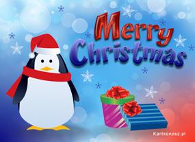 eKartki Boże Narodzenie Pingwinek w Boże Narodzenie,