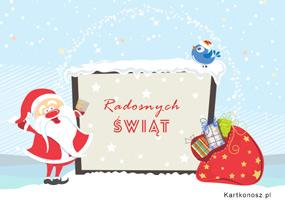 eKartki Boże Narodzenie Radosny Mikołaj,