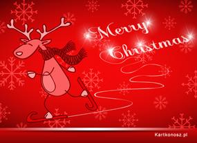 eKartki Boże Narodzenie Renifer w Boże Narodzenie,