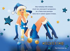 eKartki Boże Narodzenie Śnieżna Mikołajka,
