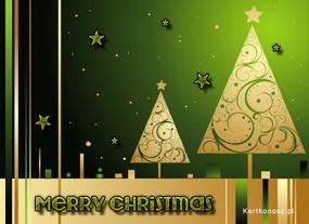 eKartki Boże Narodzenie Świąteczne choineczki,