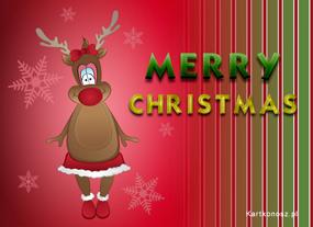 eKartki Boże Narodzenie Świąteczny renifer,