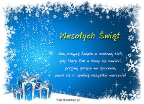 eKartki Boże Narodzenie Święta w srebrnej bieli,