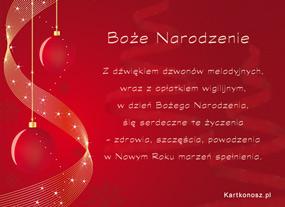 eKartki Boże Narodzenie W dzień Bożego Narodzenia,