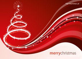 eKartki Boże Narodzenie Zakręcona choinka,