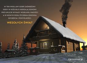 eKartki Boże Narodzenie Zaśnieżona Wigilia,