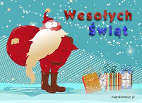 eKartki Boże Narodzenie Zdziwiony Mikołaj,