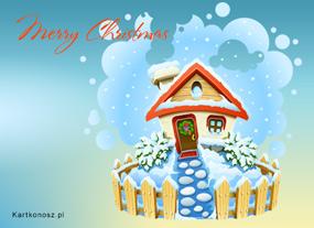 eKartki Boże Narodzenie Bożonarodzeniowy domek,