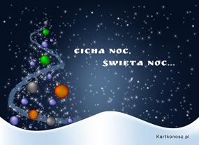eKartki Boże Narodzenie Cicha noc, święta noc,