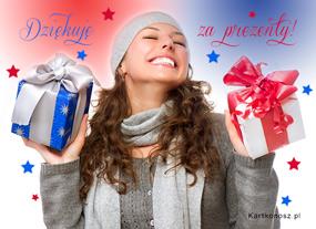 eKartki Boże Narodzenie Dziękuję z prezenty,