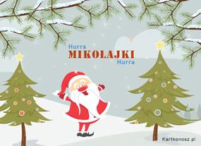 eKartki Boże Narodzenie Hurra Mikołajki,