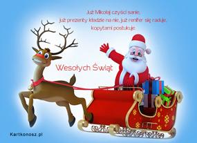 Już Mikołaj czyści sanie