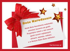 eKartki Boże Narodzenie Karteczka świąteczna,