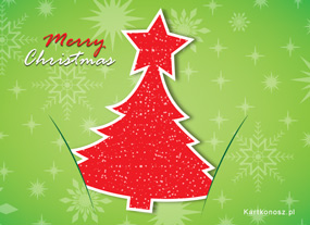 eKartki Boże Narodzenie Kartka z choinką,