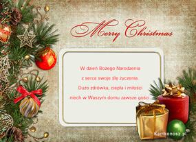 eKartki Boże Narodzenie Kartka z życzeniami,