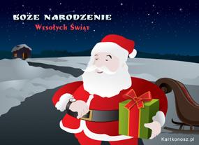 eKartki Boże Narodzenie Mikołaj Cię odwiedza,