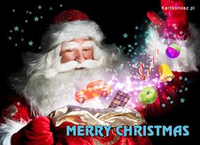 eKartki Boże Narodzenie Mikołaj - Czarodziej,