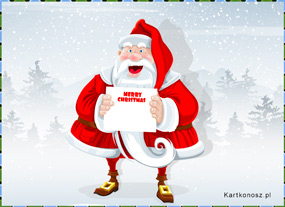 eKartki Boże Narodzenie Pozdrowienia Mikołaja,