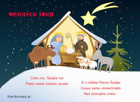 eKartki Boże Narodzenie Święta Noc,