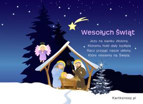 eKartki Boże Narodzenie Szopka bożonarodzeniowa,